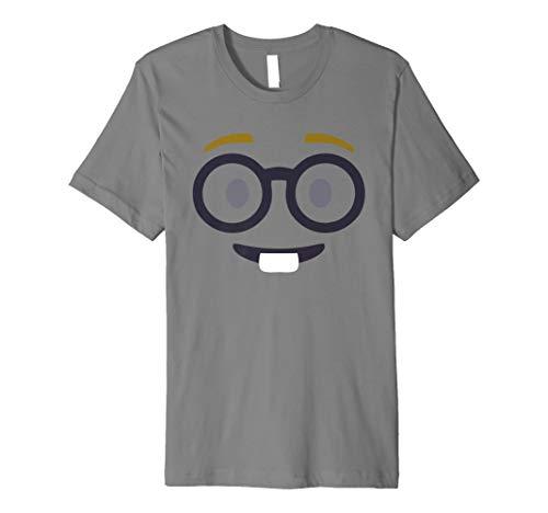 Nerd Face T-Shirt Geek Funny Emoji-Gruppe Kostüm Top -