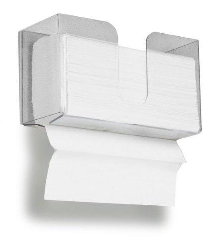 Dual kleckereien Papier Handtuchhalter, 150Papier Handtuch Kapazität für für und C-Falz Handtücher, klar Container Design Schutzfolie, Spaltbar, zum Aufhängen Dual Papier Handtuch Spender