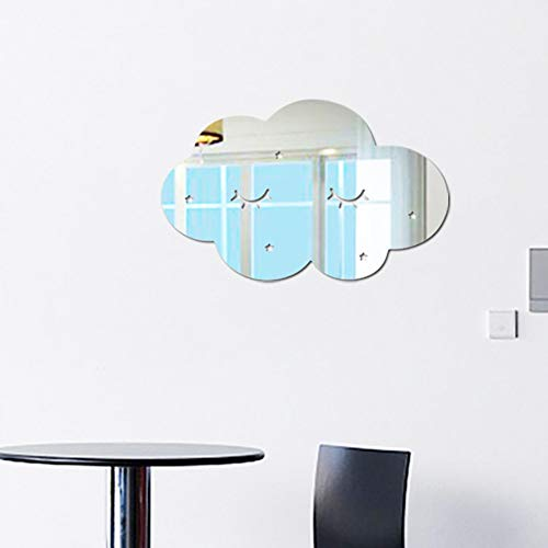 yl Spiegel Cartoon Wand Kamera Requisiten Kinder Zimmer Wand Dekoration C (Wolke) ()
