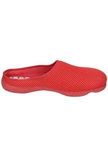 Manitu  Manitu-home Damen Hausschuh, Chaussons pour femme rouge Rot Rouge