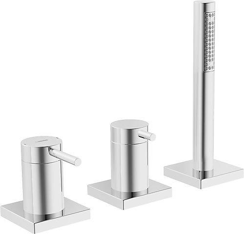 Hansa designo-Kit EMB. Compact 3Elem./Einhebelmischer Floron quadratisch Chrom (53259093) -