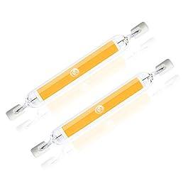 Bonlux R7S LED 78mm Lampadina 5 Watt J78 Dippio Effetto COB Filamento Lineare Bianco Caldo 2700k Equivalente a 30W 48W Lampada Alogena 360 Gradi (Confezione da 2)
