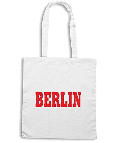 T-Shirtshock - Borsa Shopping WC0790 BERLIN GERMANY CITY FOOTBALL Bianco