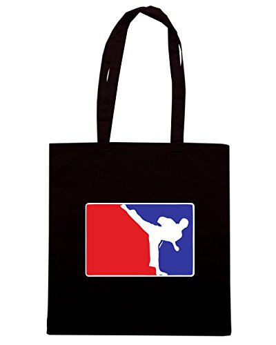 T-Shirtshock - Borsa Shopping TAM0126 major league karate hooded sweatshirt Nero