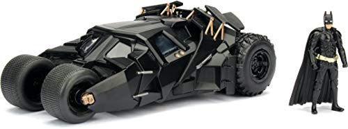 Modello TUMBLER Batmobile BATMAN THE DARK KNIGHT 19cm Scala 1/24 CON FIGURA Originale JADA Toys