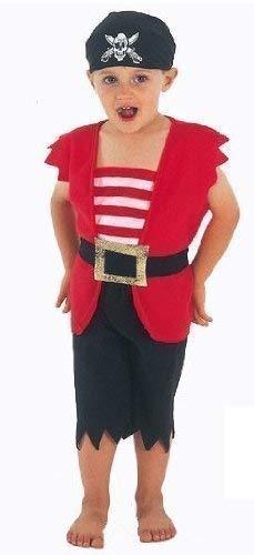 Jungen Kinder Kinder Piraten Büchertag Fancy-Dress Kostüm Verkleiden Outfit Alter 3 Jahre