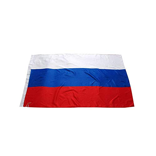 Russland-Flagge 3x5ft / 90x150cm Große Russland Nationalflagge mit Canvas-Header und Messing Tüllen für Parades Bar Schulsport Events Festival Feste Home Office Decor -