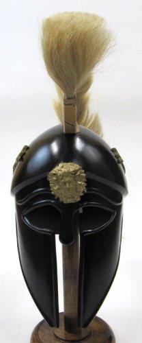 ir80865-griego Dragon Armor casco con penacho de color marrón y negro acabado