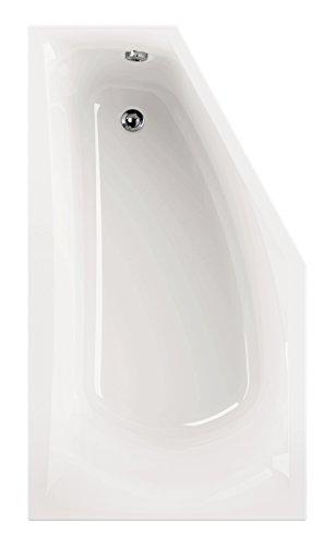 Acryl - Badewanne corDia I 160 x 90 cm I Weiß I Rechts I Wanne I Badewanne I Bad I Badezimmer
