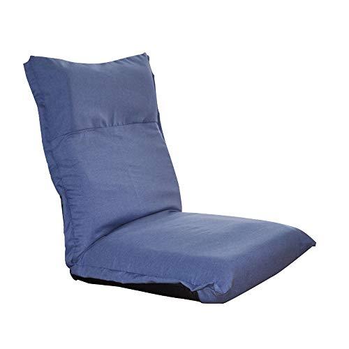 JI BIN-SF Canapé Simple Chaise Pliante Chaise De Sol Dossier Chaise Loisirs Canapé Paresseux Inclinable Lecture/Regarder Le Drame/Ordinateur/Reste - Détachable/Réglable (Couleur : Bleu)