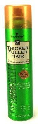 Thicker Fuller Hair Laque capillaire volumisante ultra légère - Tenue flexible de longue durée - Aérosol - 240 ml (Lot de 3)