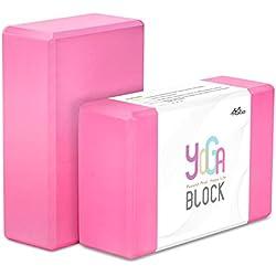 "MoKo Yoga (2 unidades) - 9"" x 6"" x 3"", rosa"