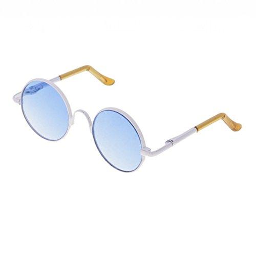 T TOOYFUL 1/3 BJD Retro Hippy Runde Brille Eyewear Für Dollfie Zubehör Weiß - Weiß
