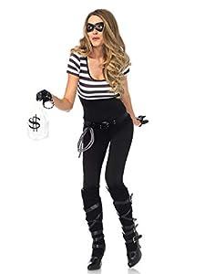 Leg Avenue- Mujer, Color negro blanco, Medium (EUR 38-40) (85530)