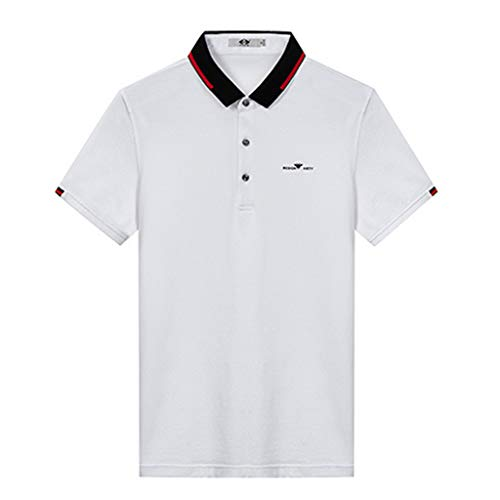 Herren Golf Polo Shirts Klassische Kurzarm T-Shirts Herren Freizeit Leichtes Tennis Big and Tall Shirt,White,XL - Leichtes Pique Polo Golf Shirt