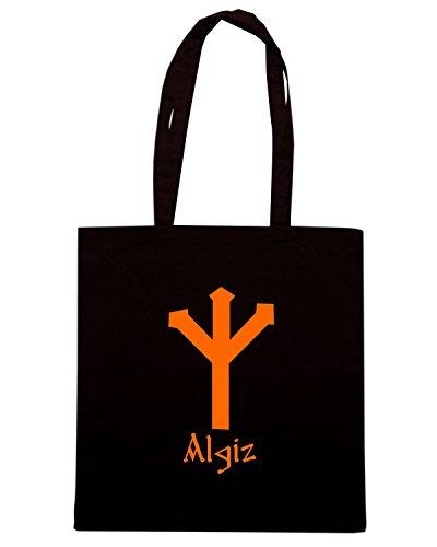 T-Shirtshock - Borsa Shopping T0294 algiz religioni celtic Nero