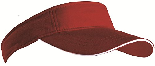 SPORTS SUN VISOR SANDWICH PEAK GOLF TENNIS CAP HAT – 12 COLOURS