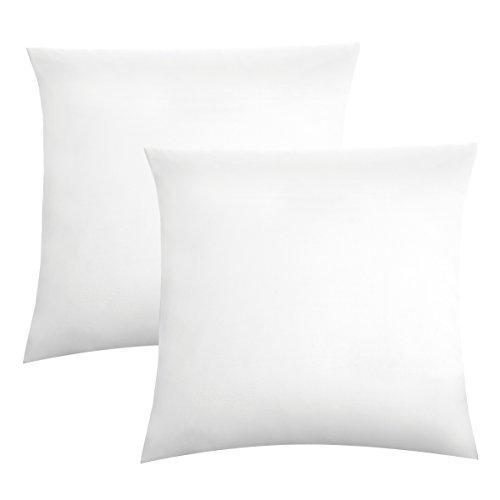 Biberna 0077144 Jersey-Kissenhüllen aus 100 % Baumwolle mit Reißverschluss, 2er-Pack, 80 x 80 cm Weiß, 27 x 18 x 3 cm