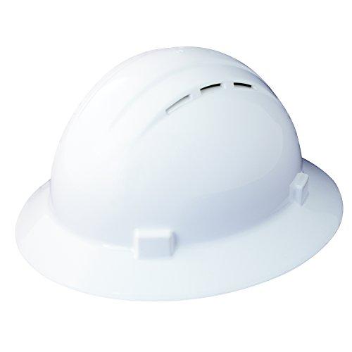 Erb Safety Products 19331americana Full Brim Vent standard, size: 61/2–8, bianco
