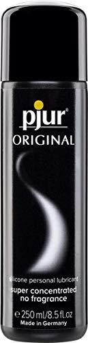 pjur ORIGINAL - Premium Silikon-Gleitgel - lange Gleitfähigkeit ohne zu kleben - sehr ergiebig und für Kondome geeignet - 1er Pack (1 x 250 ml)