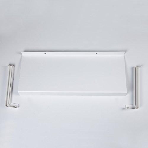 Hochwertige Fensterbank aus Aluminium, weiß 1000 x 150 mm