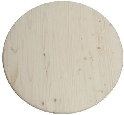 Runde Holz Tischplatte 60 cm x 28 mm, aus Deutschem Fichtenholz, 4 Sterne Kwalität