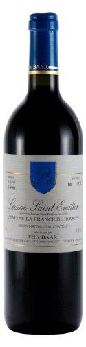 1990er Jahre Top (Lussac-Saint-Emilion 1990 - Alter trockener Bordeaux Rotwein, Frankreich, Cabernet Franc, Merlot, Cabernet Sauvignon)