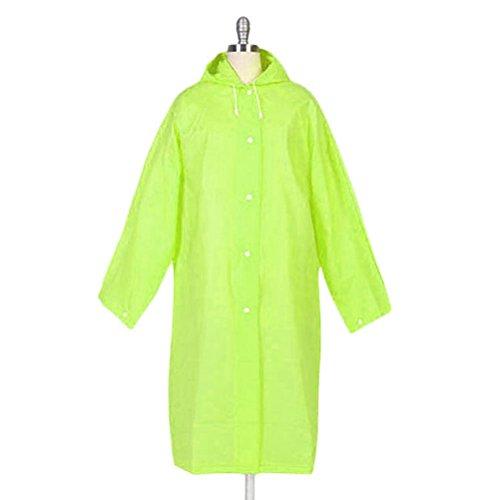 Nanxson(TM) Imperméable Avec Capuche Raincoat Cape Multi-couleurs Pour Femmes WTW0070 Vert