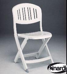 Europa Leisure Nardi ND/131–2 Capri Chaise pliante – Blanc (lot de 2)