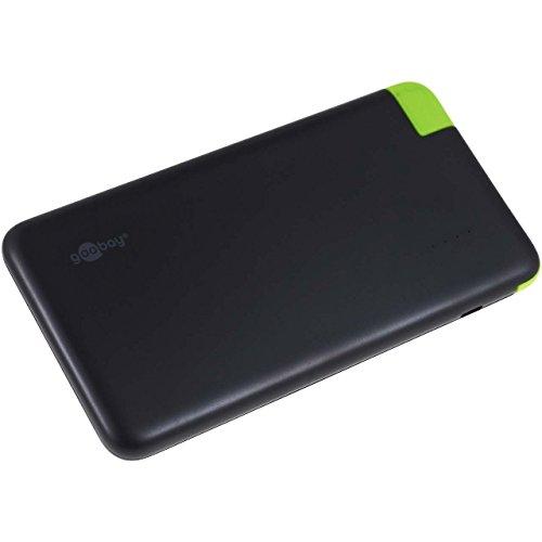 goobay USB-Ladegerät externer Akku PowerBank für unterwegs & Pokemon Go Begeisterte 8,0Ah, 5V, Li-Ion