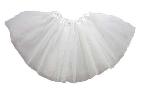 """Tante Tina -Tüllrock """"Lily"""" für Mädchen - Tütü Tutu Petticoat Ballettrock - Weiß - One Size"""
