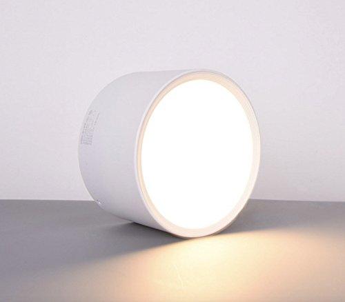 Aufbauleuchte Deckenleuchte Aufputz mit 7W LED Fassung 230V [ alu-silber, schwenkbar] Deckenleuchte Würfelleuchte CUBE Kronleuchter aus Aluminium (Weiße 3000K)