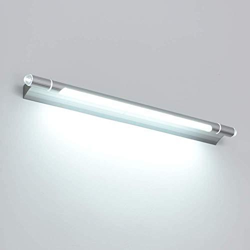 GFF Led wasserdichte Spiegelleuchte, Badezimmer Kommode Toilette Schlafzimmer Wandleuchten Aluminium Acryl Lampen-silbrig 65cm-11W