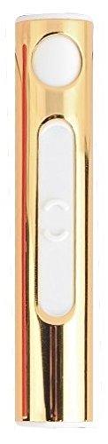 feuerzeug ohne gas Pritech Feuerzeug wiederaufladbar durch USB Anti Wind und Regen ohne Gas (Gold)