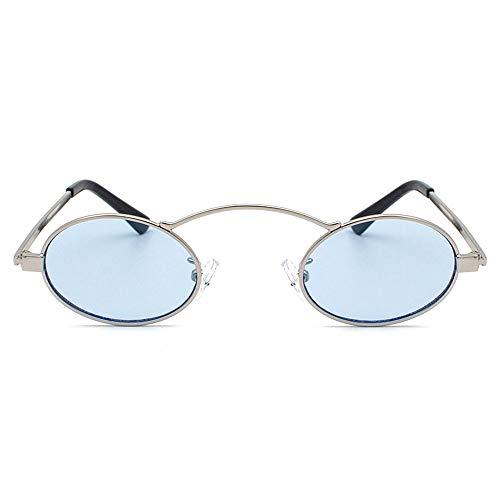 @Y.T Männer und Frauen Metall Sonnenbrille Retro Sonnenbrille Marine Objektiv Sonnenbrille,B