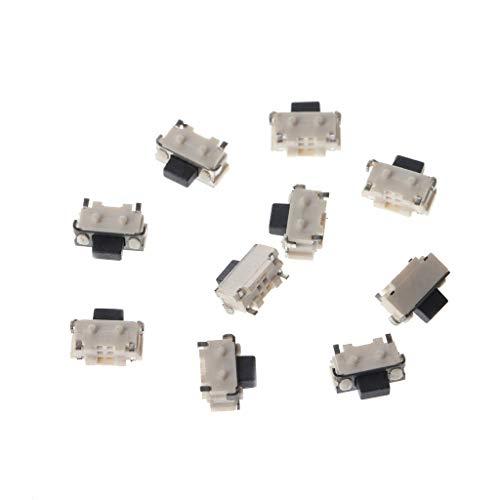 ESden - Juego de 10 interruptores táctiles Laterales (Micro SMT, SMT, 2...