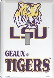Single Vanity (Louisiana State University LSU Tigers Collegiate Vanity Metal Novelty Single Light Switch Cover Plate LS10089 by Smart Blonde)