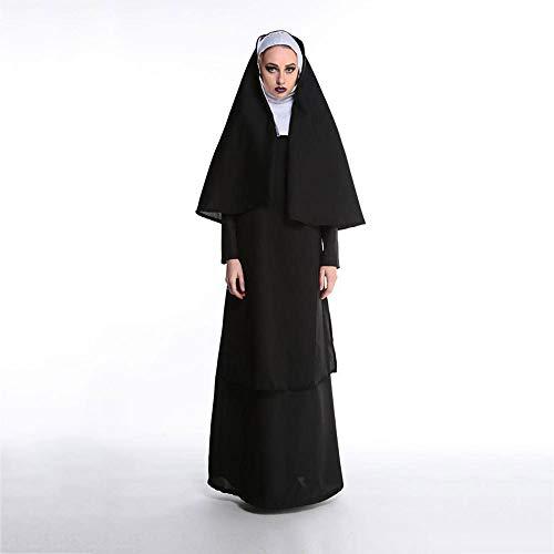 Yunfeng Hexenkostüm Damen Halloween Maskerade Priester Priester Nonnen Bühne Kostüme