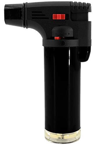 My-goodbuy24 Creme Brulee Brenner   Küchenbrenner -bis zu 1000°C- Flambierbrenner Butangasbrenner mit Sicherheitsschloss   Bunsenbrenner   Gasbrenner   Grillanzünder (1 x Stück) -