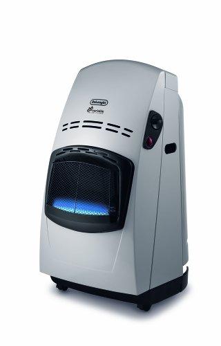 De'Longhi - Gasheizgerät, 4200 W Mit Thermostat Schwarz/silberfarben (ohne Druckregler)