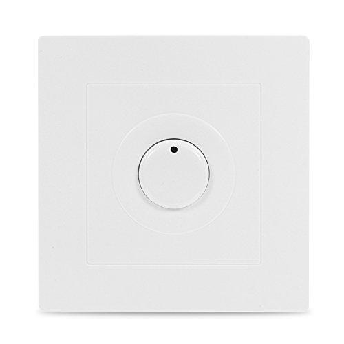 ChaRLes 220V Energy Saving Time Lag Switch Timer Switch Panel White -