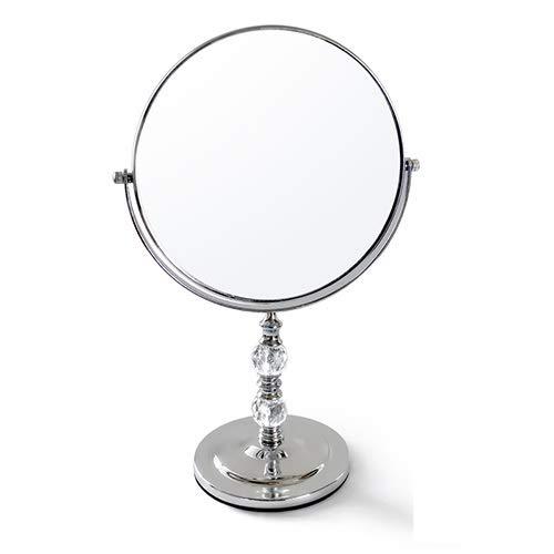 NL Tablero de la Mesa de Doble Cara de Maquillaje Espejo de baño, 8' '360 ° Giratorio Espejo de Aumento...