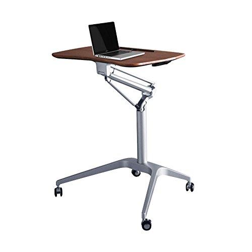 Kirsche Schreibtisch Stuhl (GWF Mobiler Höhenverstellbarer Stehender Laptop-Schreibtisch; 71,5 cm breit, Kirsche (Farbe : Nussbaum))