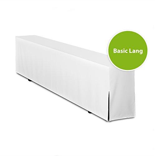 Bierbankhusse GEPOLSTERT - Basic Lang (nur Bank) (Weiß)