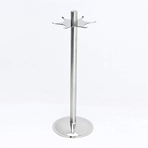 Supporto rotante per utensili da cucina, in acciaio inox, per appendere padelle, cucchiai, utensili da cucina, 360 gradi, con sei ganci (43 cm)