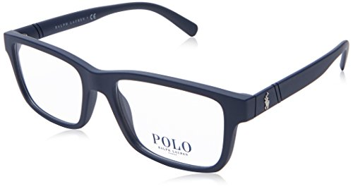 Polo Ralph Lauren ph2176 Brille in mattem blau PH2176 5620 52 Matte Blue Clear 52