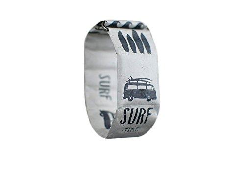 Paprcuts Watch - Uhr aus Tyvek - Armbanduhr Frauen - Armbanduhr Herren (Surf) (Surf-uhr-digital)