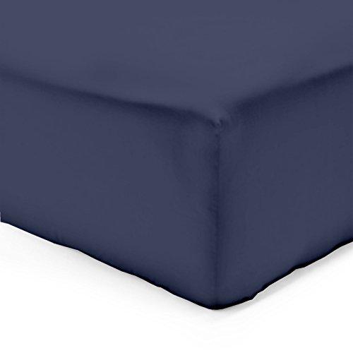Vision Drap Housse Marine 140x190cm - 100% Coton