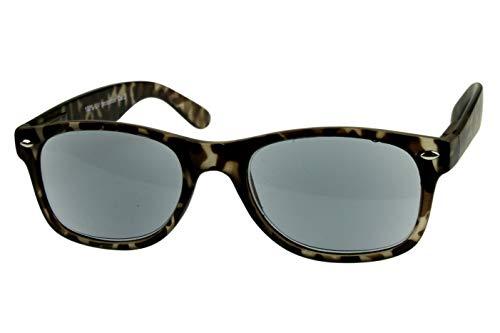 Lesesonnenbrillen alle Dioptrien für Damen Herren beige schwarz glänzend getönt mit Etui und Federbügel Kunststoff 1.0 1.5 2.0 2.5 3.0, Dioptrien:Dioptrien 3.5