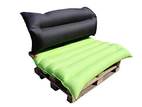 EPSS Sitzpolster Set inkl. 2x Ratschengurt zum Verbinden der Europaletten - bequem - wasserresistent - einzigartig - Sitzmöbel Palettenmöbel Palettenpolster ideal für Gartenpartys, Events oder Messen